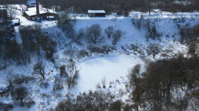 Blick Vom Kleinen Königsstuhl Auf Das Museumsgelände Im Winter